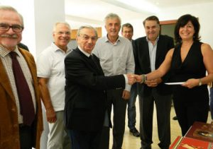 Donation of books to the Neapolis University in Cyprus from Mrs. Marina Vryonidou