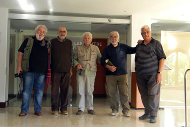 The renowned Greek painter Kostas Tsoklis visited the Neapolis University in Cyprus