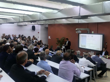 """A lecture presenting """"Paphos, its Economic Environment & Business"""" was organised and presented with great success at Neapolis University in Cyprus"""