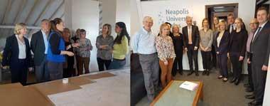 Το Διοικητικό Συμβούλιο του Δικτύου των Πανεπιστημίων των Πολιτιστικών Πρωτευουσών της Ευρώπης (UNeECC-University Network of European Capitals of Culture) στο Πανεπιστήμιο Νεάπολις.