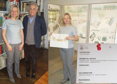 Βραβείο στη Δρ. Τζούλια Τζώρτζη στο Διεθνή Αρχιτεκτονικό Διαγωνισμό αναφορικά με την Πλατεία στο κεντρικό Κάστρο (Castello Sforzesco) του Μιλάνου