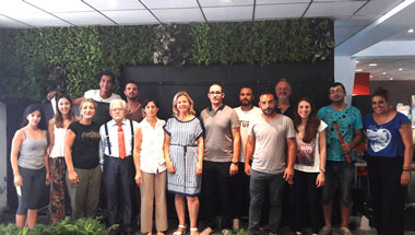 Vertical Green Garden created at Neapolis University in Cyrpus on Saturday 8th of July