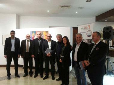 Painting Exhibition Yannis Psychopedis at neapolis university in cyprus
