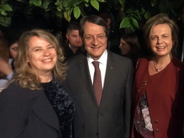 Representative of Neapolis University in Cyprus for Earth Hour at the Presidential Palace