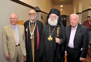 The Neapoli Univerity in Cyprus attended His Eminence, Pope and Patriarch of Alexandria and all of Africa recognition ceremony to an Honorary Doctorate Degree