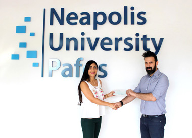 """Neapolis University in Cyprus sponsors the young """"inventors"""" of our city, who won the Robotex 2018 Cyprus Competition"""