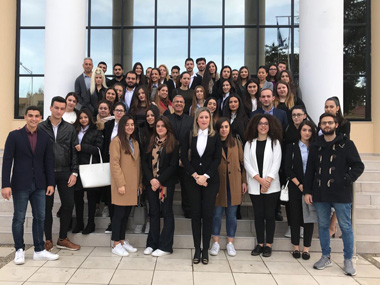 Educational visit to the Permanent Assumption Court of Pafos of the students of the Law School of Neapolis University in Cyprus