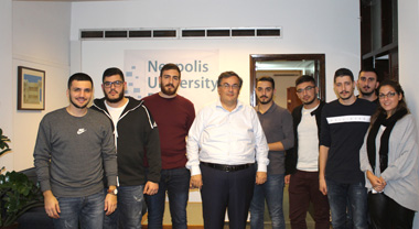 Meeting of the Student Council with the Rector of Neapolis University in Cyprus