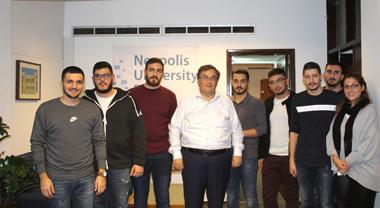 Συνάντηση Πρύτανη Νεάπολις με το νέο Φοιτητικό Συμβούλιο του Νεάπολις, Πανεπιστήμιο στη Κύπρο