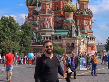 Α student of the Architecture Programme of Neapolis University in Cyprus, in Moscow with IAESTE Cyprus