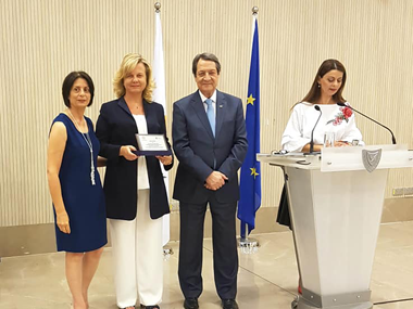 Honorable Distinction by the President of the Republic Of Cyprus Of Assistant Professor of Neapolis University in Cyprus Mrs. Julia Georgi[gr]ΤΙΜΗΤΙΚΗ ΔΙΑΚΡΙΣΗ ΑΠΟ ΤΟΝ ΠΡΟΕΔΡΟ ΤΗΣ ΚΥΠΡΙΑΚΗΣ ΔΗΜΟΚΡΑΤΙΑΣ ΤΗΣ ΑΝ. ΚΑΘΗΓΗΤΡΙΑΣ ΤΟΥ ΝΕΑΠΟΛΙΣ, ΠΑΝΕΠΙΣΤΗΜΙΟΥ ΣΤΗΝ ΚΎΠΡΟ Κα ΤΖΩΡΤΖΗ ΤΖΟΥΛΙΑ