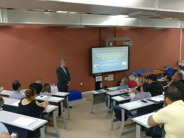 Lecture by Professor Mr. Konstantinos Spyrakos of the National Technical University of Athens at Neapolis University in Cyprus