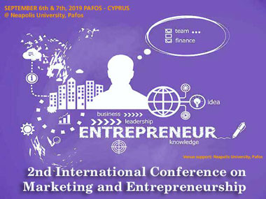 : 2nd International Conference on Marketing and Entrepreneurship (ICME 2019) at Neapolis University in Cyprus