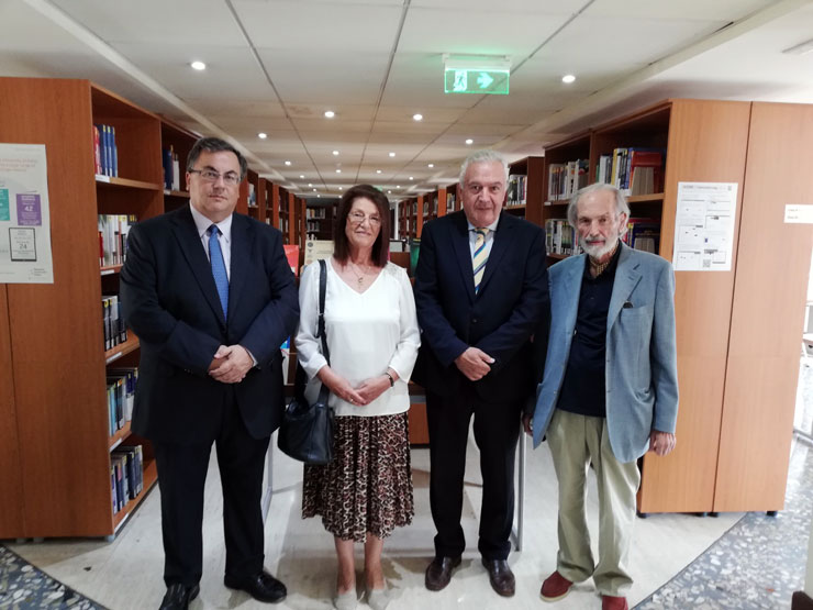 Book donation by Mr. Aris Petassis at Neapoli University in Cyprus Library